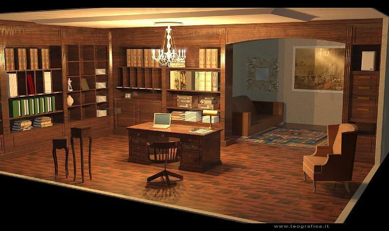 Arredamento Studio Legale Classico Scrivania Per Ufficio Diamante M